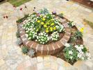 庭 花壇 レンガ さいたま市