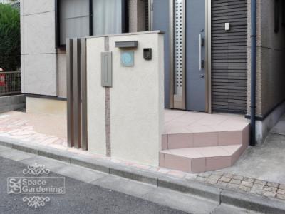 オープン外構 門柱 さいたま市浦和区