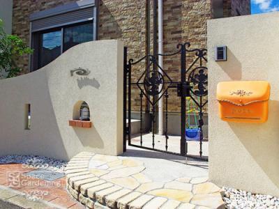 門柱 塗り壁 葛飾区
