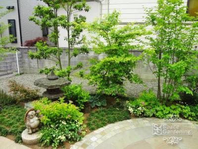 坪庭 和風 景石