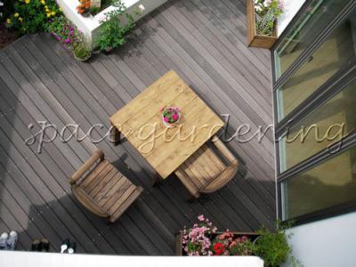 ウッドデッキ 木製 ウリン材 テーブル&チェア