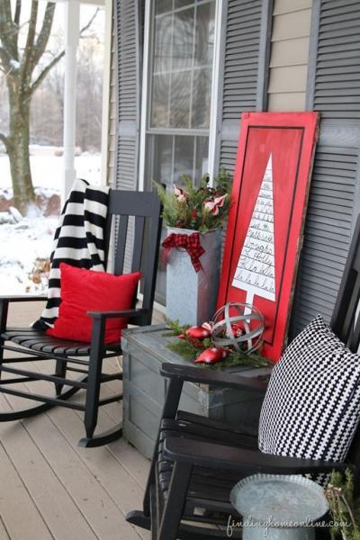 クリスマス アレンジ 飾り アプローチ 玄関まわり