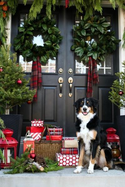 クリスマス アレンジ 飾り アプローチ 玄関まわり リース プレゼント