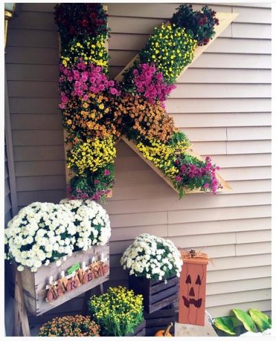 壁面 花壇 おしゃれ かわいい 寄せ植え ガーデニング