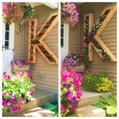 玄関周り エクステリア 花 プランター おしゃれ かわいい ガーデニング