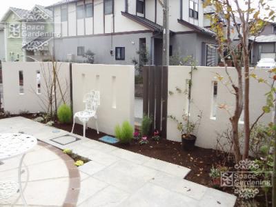 庭 目隠し塀 フェンス プライベート おしゃれ