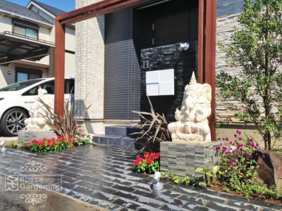庭 ガーデン デザイン バリ リゾート エントランス アプローチ