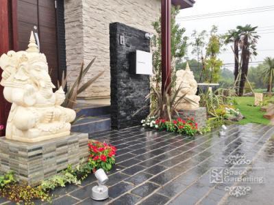 庭 ガーデン デザイン バリ リゾート オブジェ ガネーシャ
