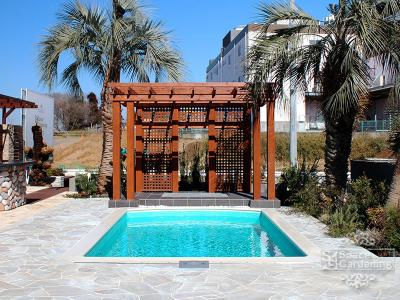 家庭用プール プール 庭 デザイン