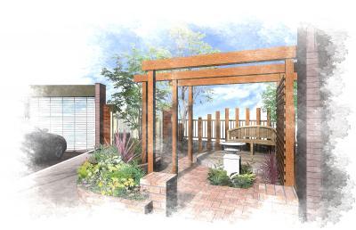レンガ 庭 デザイン