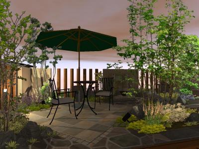 ライトアップ | 庭 | デザイン