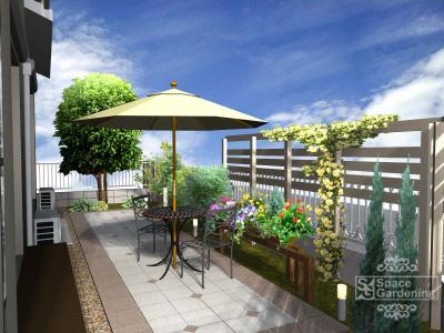 庭 | バラ | デザイン