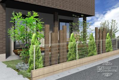 庭 | 枕木 | デザイン