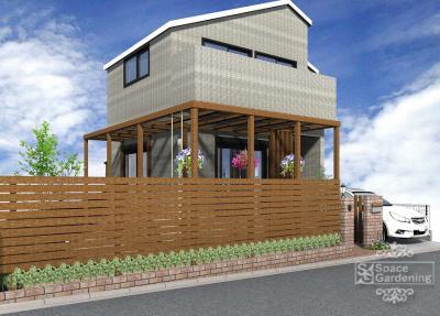 木製 | テラス屋根 | 庭 | デザイン