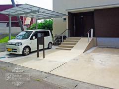 オープン外構 駐車場 コンクリート