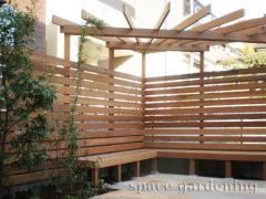 さいたま市 エクステリア 木製パーゴラ 施工例