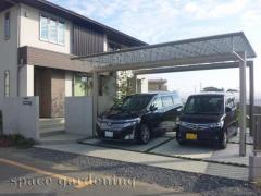 車庫 カーポート 三協立山 Mシェード 2台