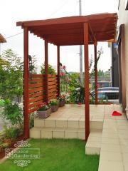 木製パーゴラ テラス屋根 アイアンウッド