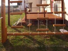 木製 遊具 ブランコ 鉄棒
