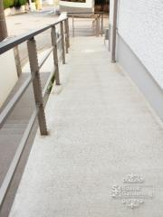 アプローチ スロープ コンクリート刷毛引き仕上げ