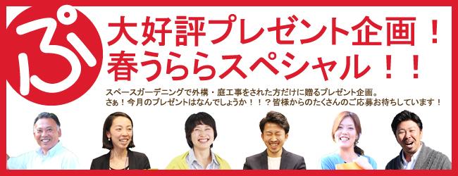 大好評プレゼント企画!春うららスペシャル!!